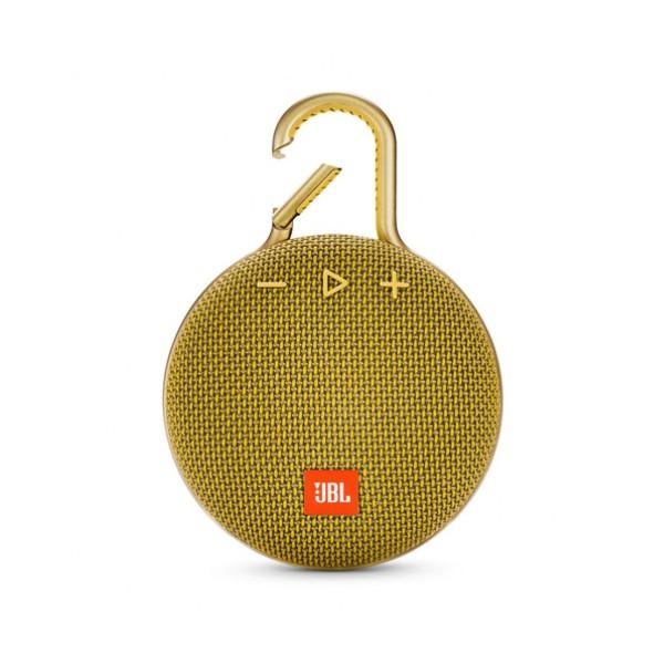 Jbl clip 3 yellow altavoz portátil 3w rms bluetooth mosquetón integrado impermeable ipx7
