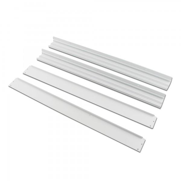 Marco aluminio panel led 30x120cm.