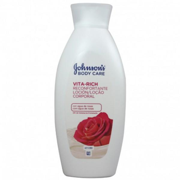 Johnson's vita rich loción corporal agua de rosas 400 ml.