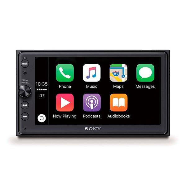 Sony xav-ax100 receptor multimedia con pantalla de 6.4'' para el coche con bluetooth apple carplay y android auto