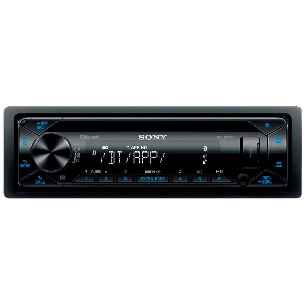 Sony mex-n4300bt radio cd con tecnología inalámbrica usb y doble bluetooth