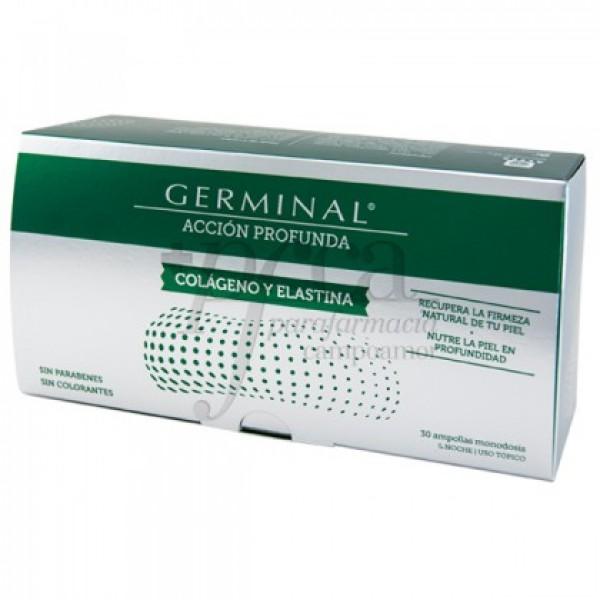 GERMINAL COLAGENO Y ELASTINA 30 AMPOLLAS DE 1 ML