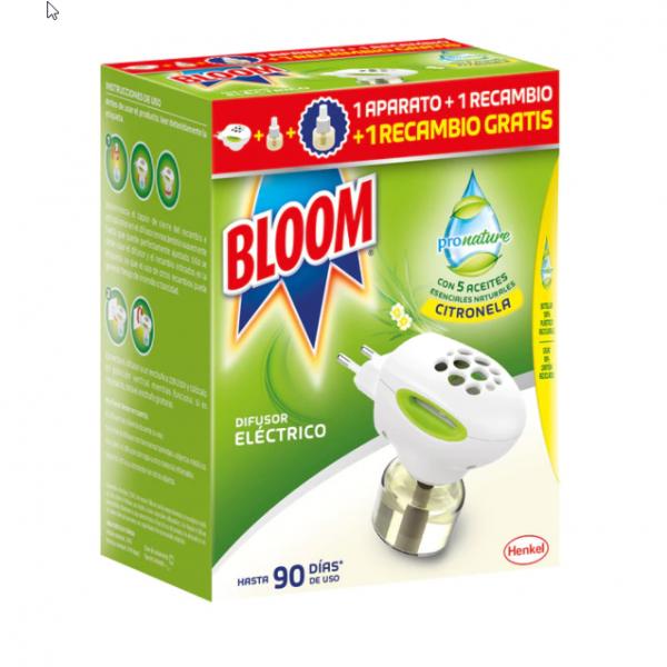 Bloom Pronature  1 difusor eléctrico +  2 recambios Citronela