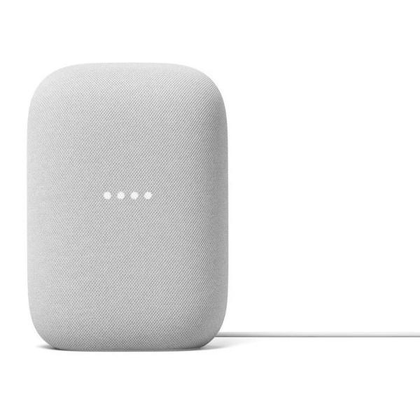 Google nest audio tela gris tiza altavoz inteligente con asistente google assistant