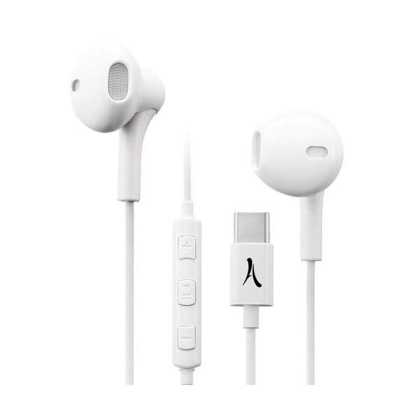 Akashi kit pieton st blanco auriculares magnéticos con micrófono integrado puerto usb-c