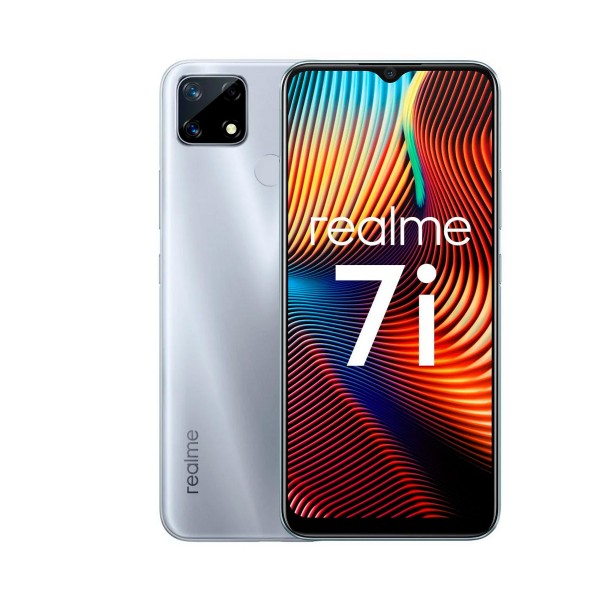 Realme 7i plata 4g expansión por sd 6.5'' lcd fhd+ octacore 64gb 4gb ram triplecam 48mp selfies 8mp