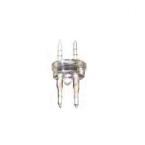 "Conector tubo flexilux/flexiled 13mm 2 vias ""punta-punta"" edm"