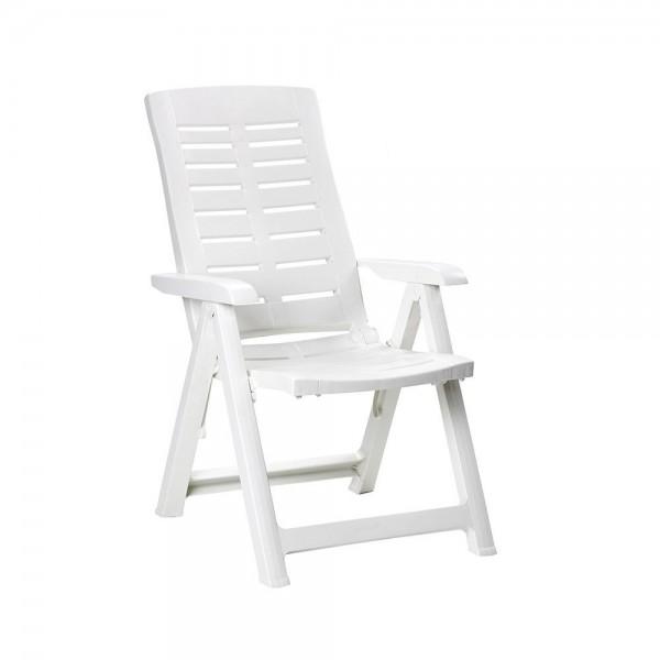 Sillon plegable multiposiciones color blanco 60x61x109cm ipae progarden