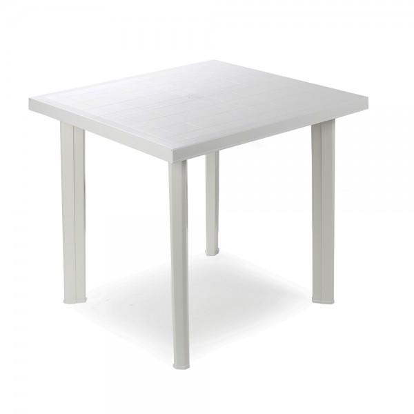 Mesa cuadrada color blanco 80x75x72cm ipae progarden