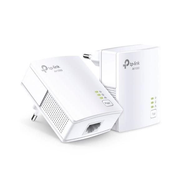 Tp-link tl-pa7017 kit inicial de adaptadores powerline/av1000/1 puerto gigabit 1000mbps