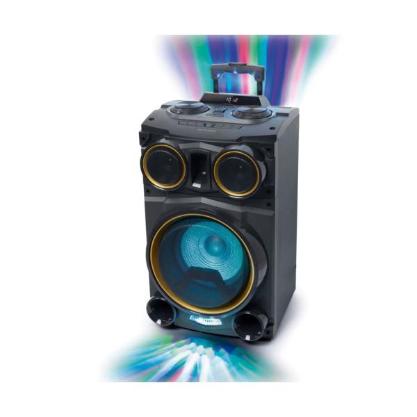 Muse m-1938 dj negro/altavoz para fiestas/500w/bluetooth/luces que cambian de color/radio fm