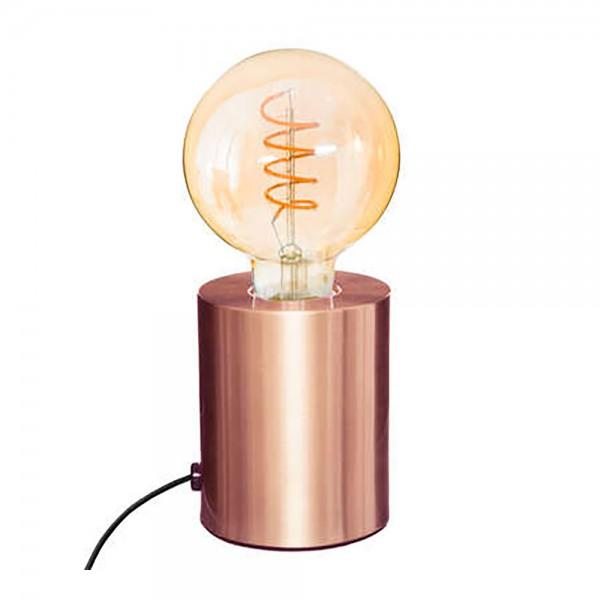 Lampara de mesa cobre 10,5x9cm e27 (bombilla no incluida)